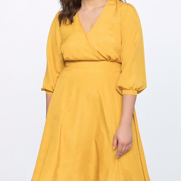 656ae03acd7 Eloquii Dot Dress with puff sleeves